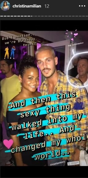 Christina Milian et M. Pokora | Photo : christinamilian/Story Instagram