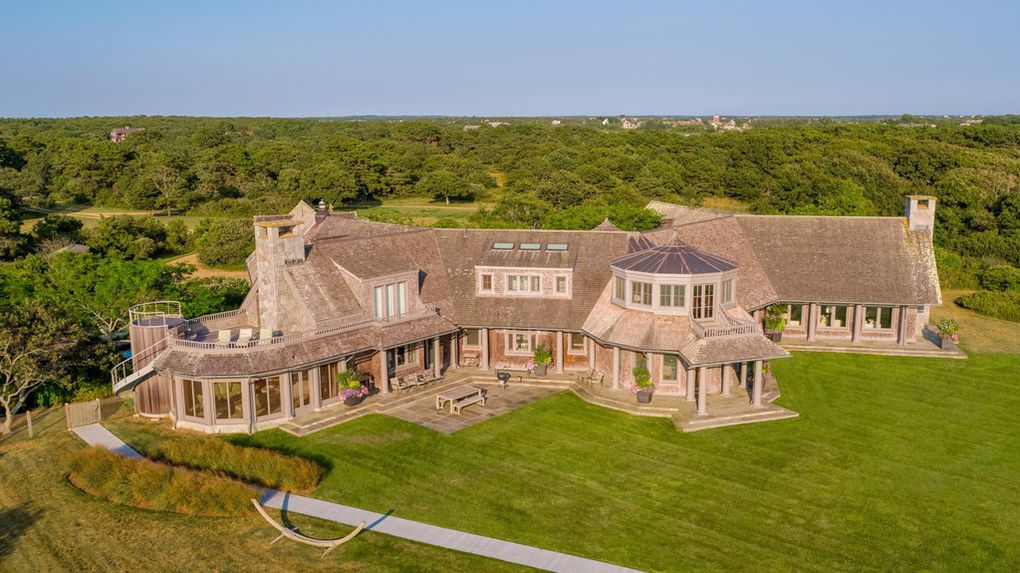 Wyc Grousbeck residence in Martha's Vineyard - aerial view/ Source: realtor.com