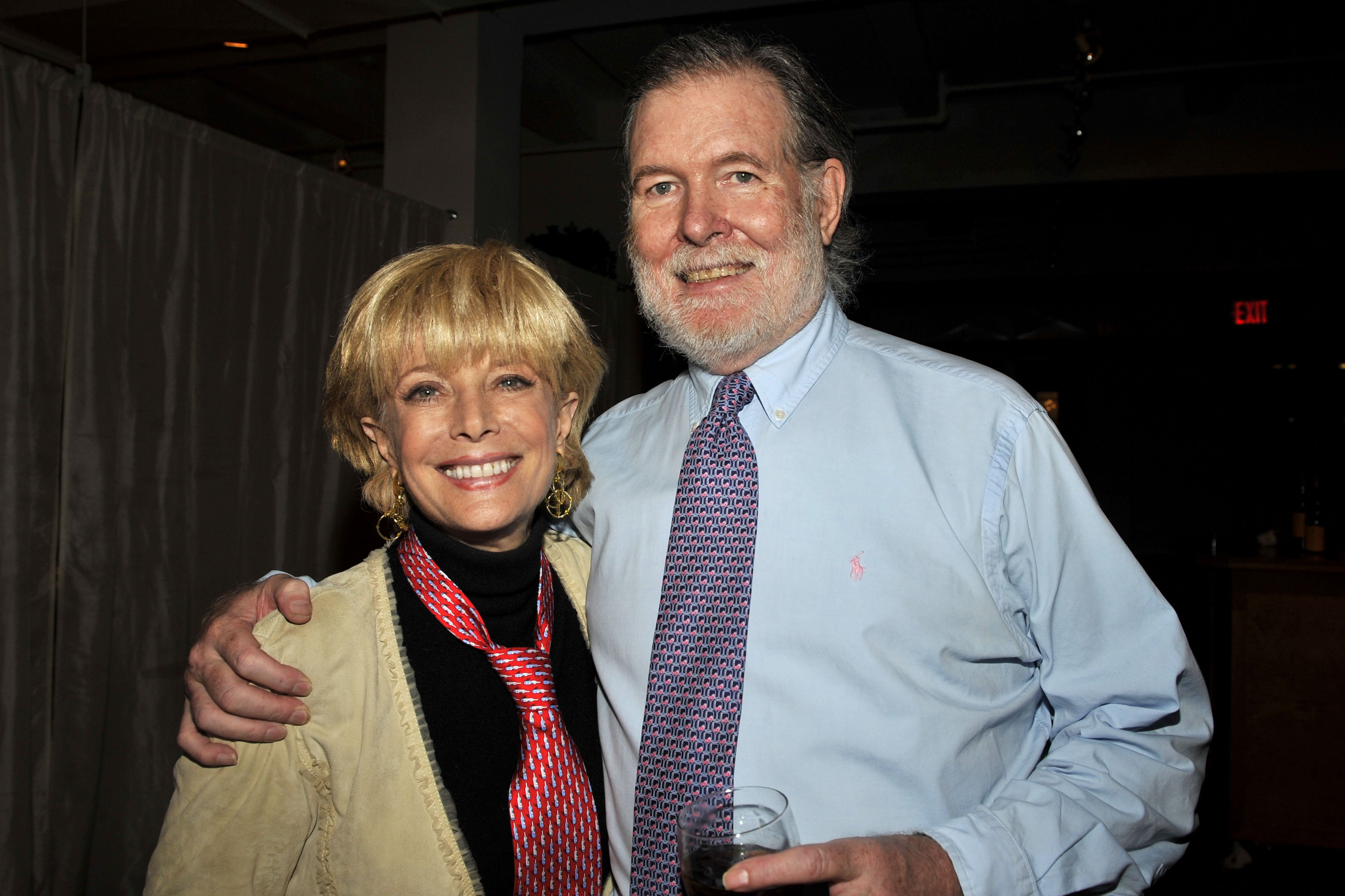 """Lesley Stahl and Aaron Latham celebrate the Launch of """"Little Barrel"""" on November 7, 2008, in New York City. 