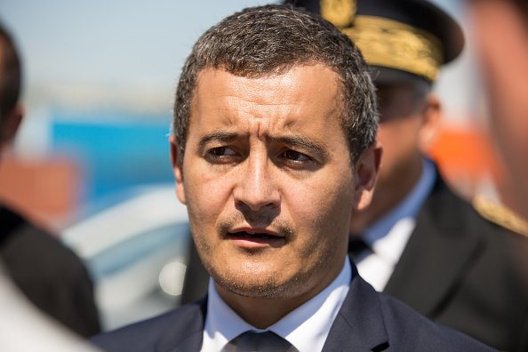 Ministre de l'Intérieur, Gérald Darmanin vu à Marseille. | Photo  Getty Images