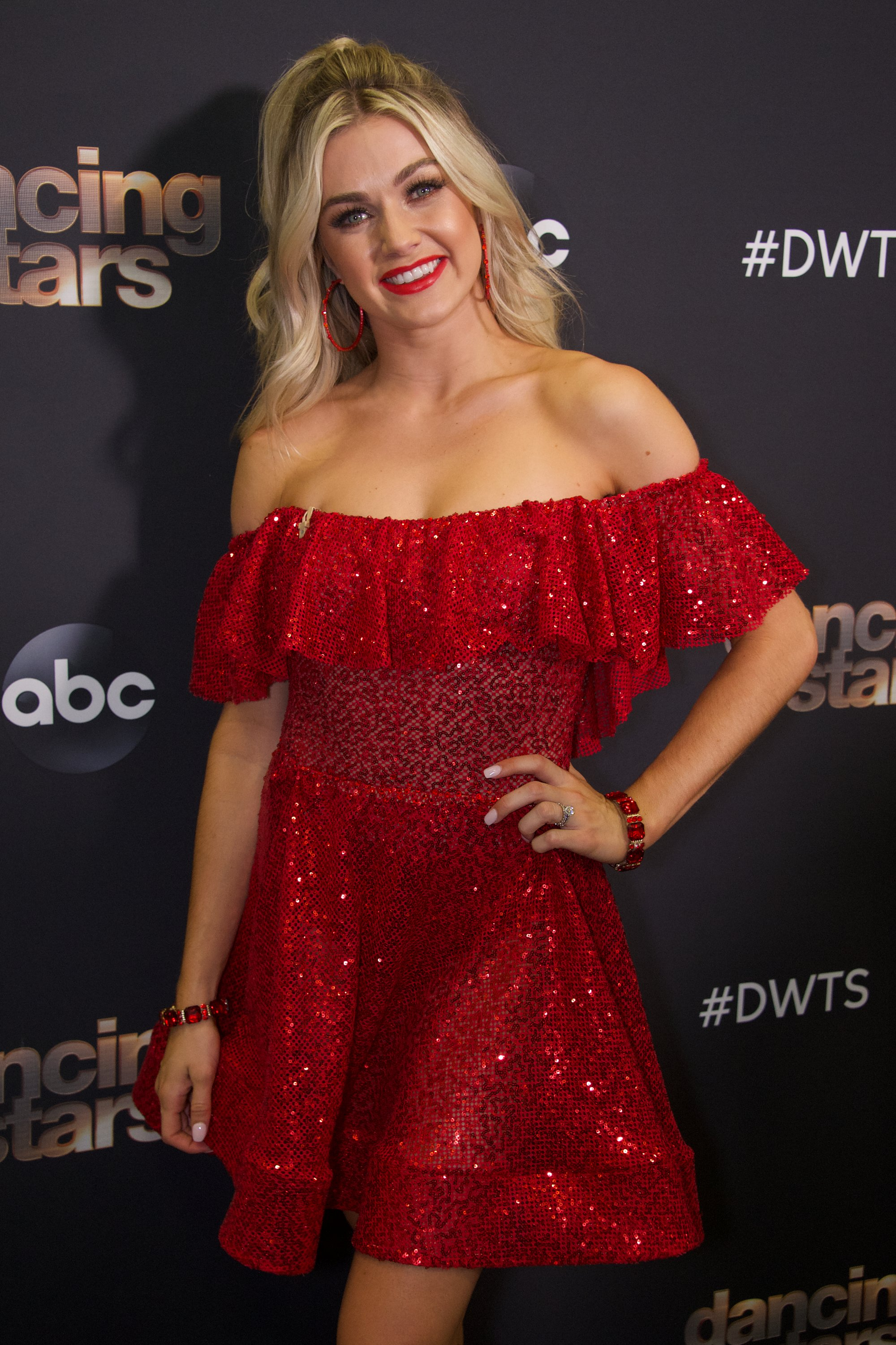 """Lindsay Arnold strikes a pose during the third week of the 2019 season of """"Dancing with the Stars,"""" on September 30 