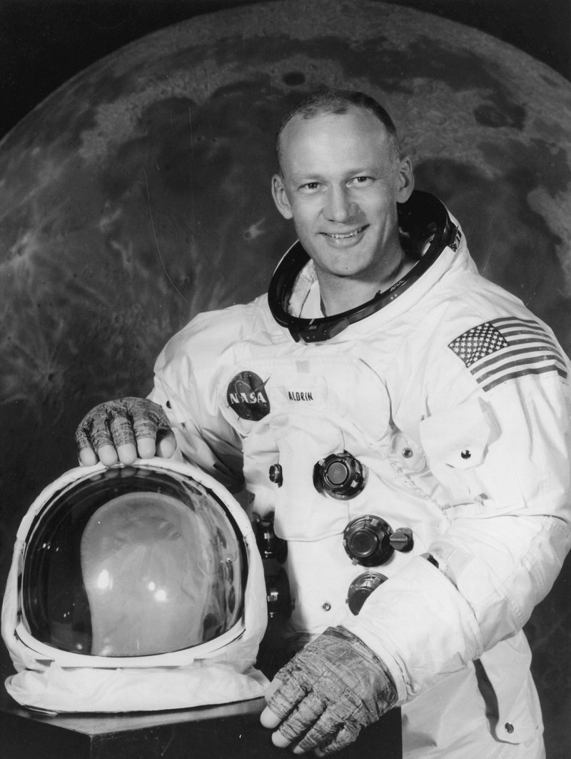 Portrait of Buzz Aldrin before embarking on the Apollo 11 mission in 1969 | Photo: Getty Images