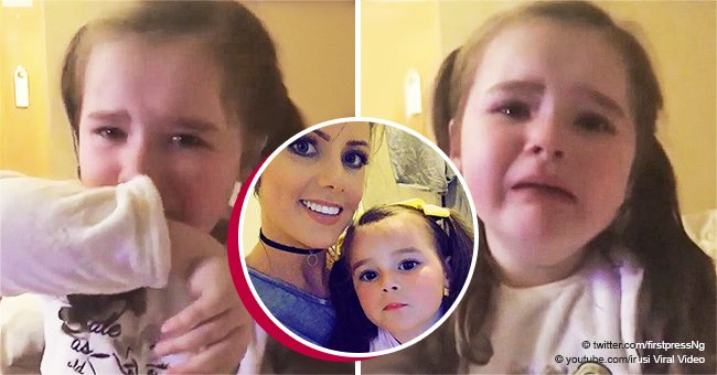 Heartbreaking moment when 4-year-old girl cries after being told she'll spend Christmas homeless