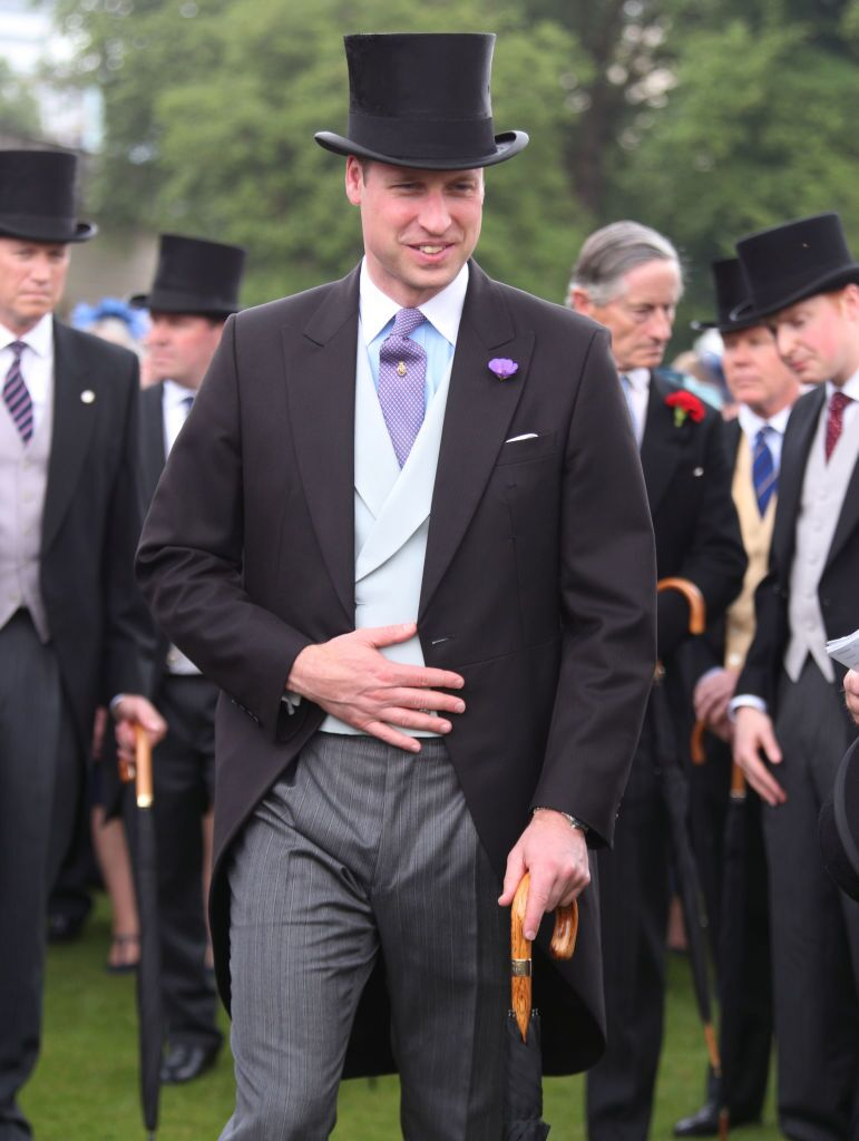 El príncipe William en una fiesta en el jardín del Palacio de Buckingham en Londres, Inglaterra. | Foto: Getty Images
