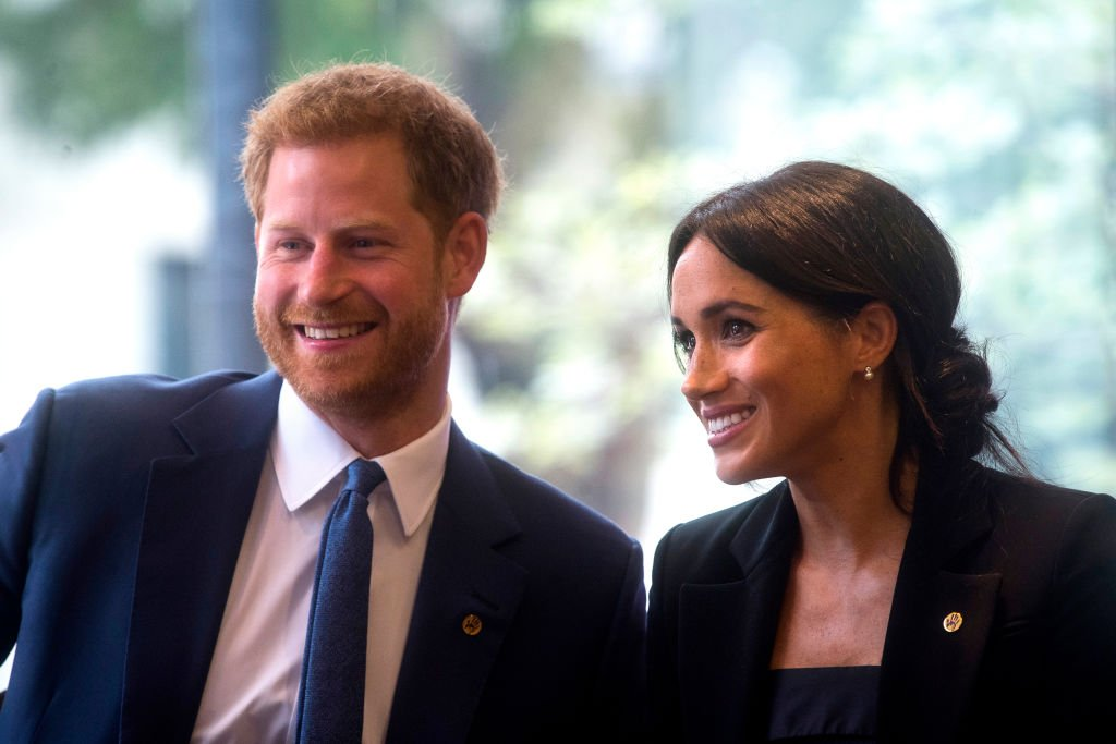 Prince Harry and Meghan Markle attending the WellChild Awards last year. They already knew of Meghan's pregnancy then but had not publicized it yet. | Photo: Getty Images