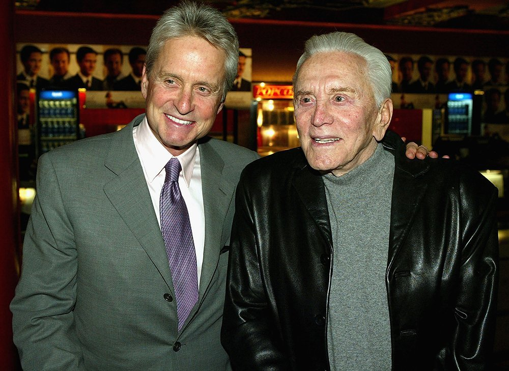 Kirk Douglas and son Michael. I Image: Getty Images.