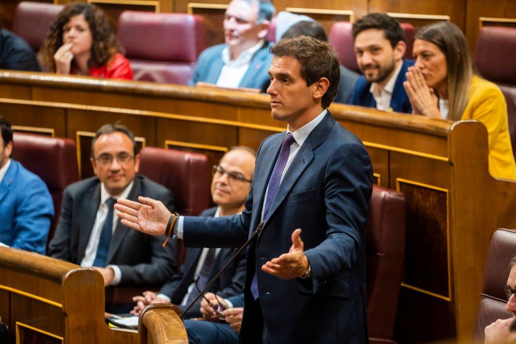 Albert Rivera durante la sesión plenaria de apertura.   Fuente: Getty Images