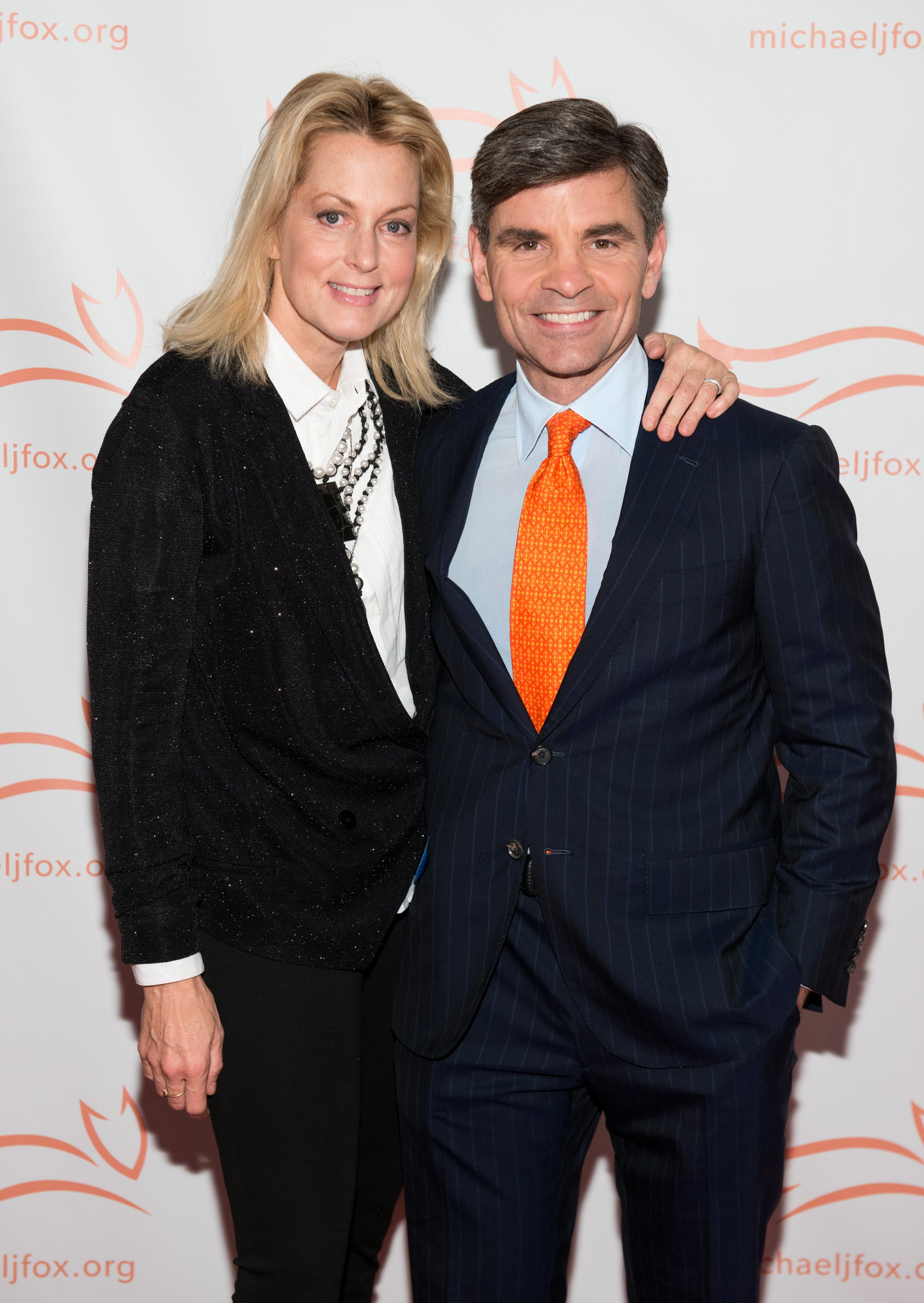 "Ali Wentworth and George Stephanopoulos attend ""A Funny Thing Happened On The Way To Cure Parkinson's"" Gala on November 14, 2015, in New York City. 