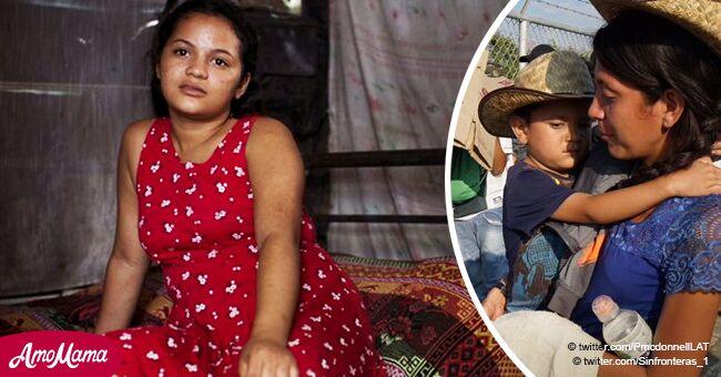 Chica de 17 años se fue de casa para unirse a la caravana de inmigrantes y ayudar a su mamá