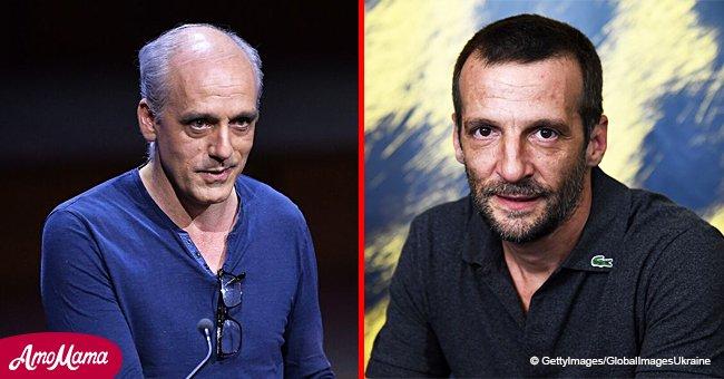 Mathieu Kassovitz and Philippe Pouton partagent une discussion intéressante après le discours du président