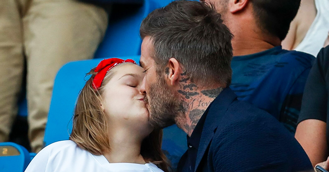 David Beckham Criticized for Kissing Daughter Harper, 7, on the Lips at the Women's World Cup