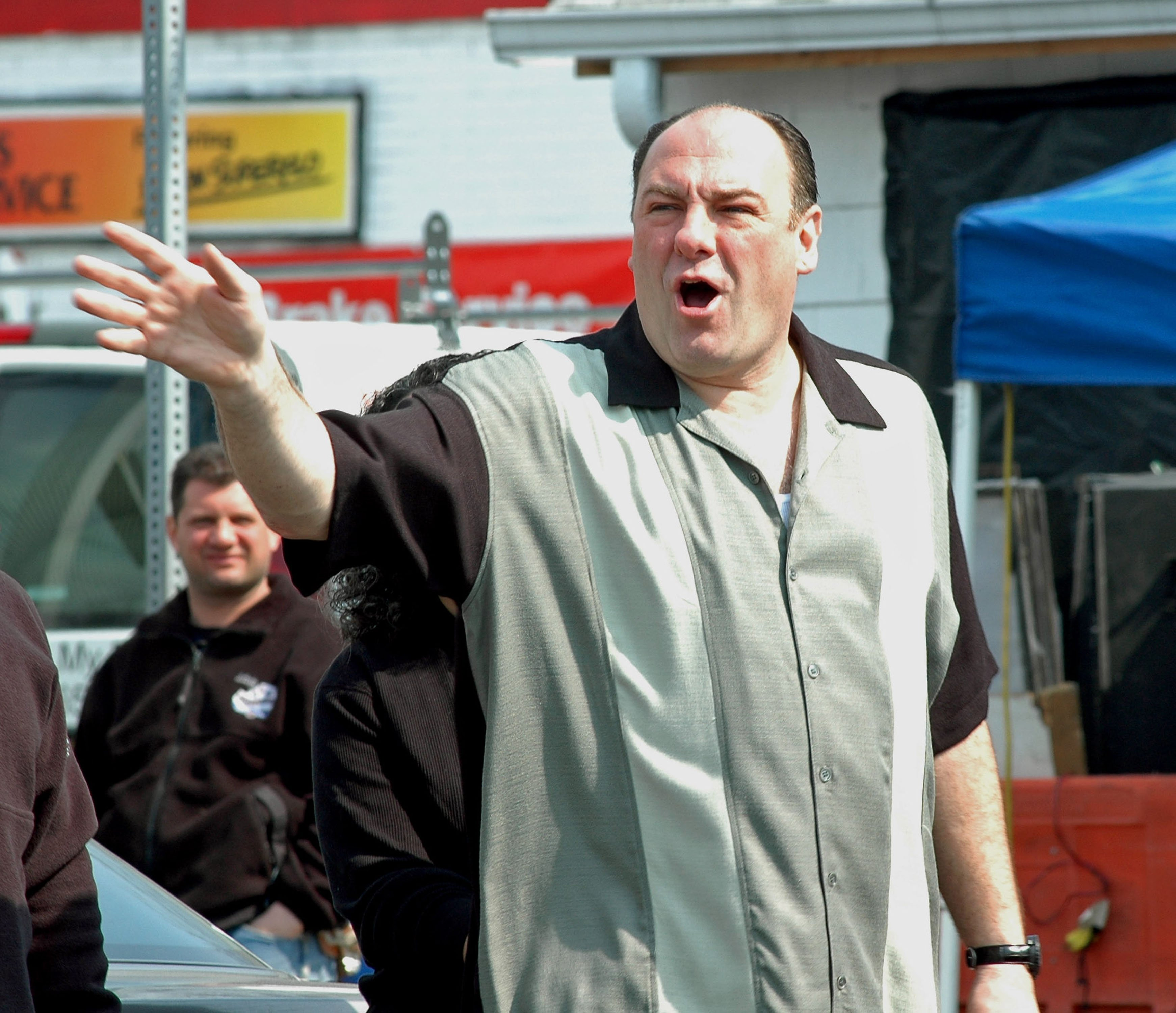 """James Gandolfini as Tony Soprano in the HBO series, """"The Sopranos"""" which debuted in 1999.   Photo: Getty Images."""