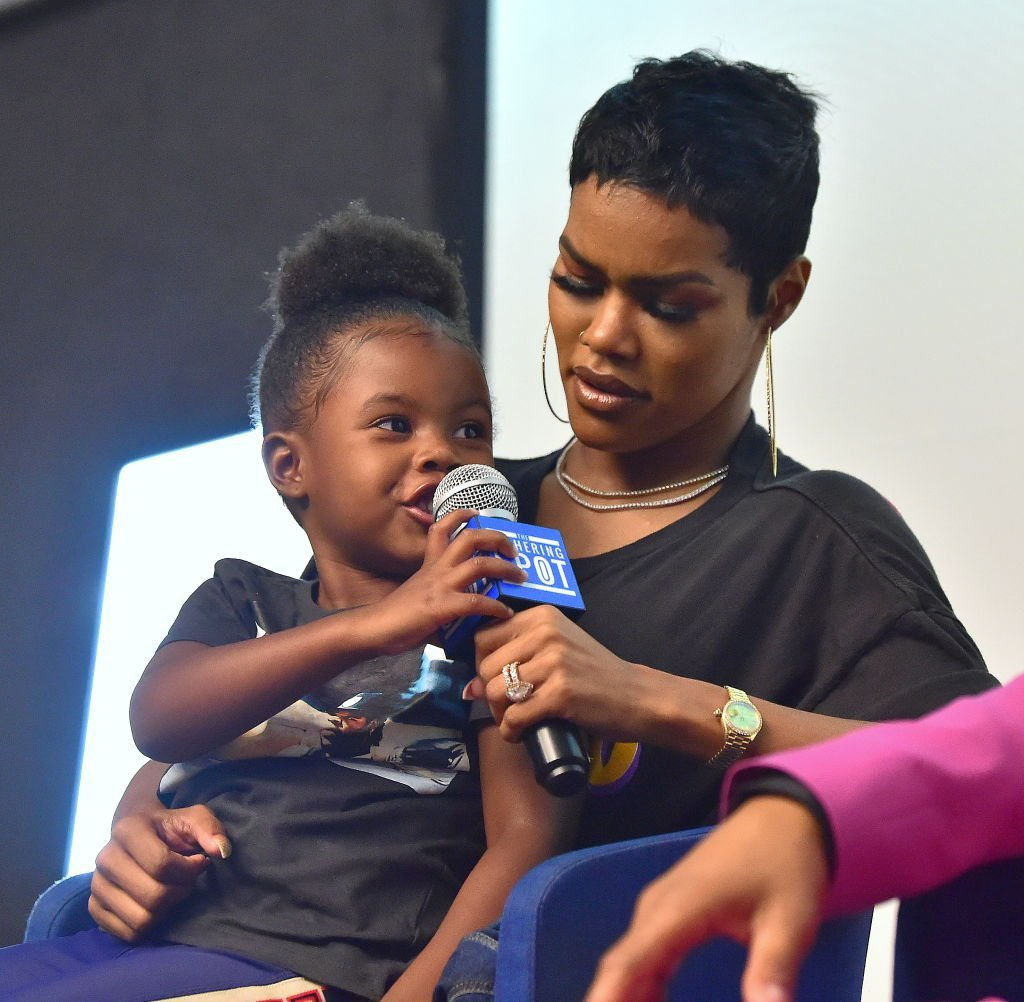 """Teyana Taylor and daughter Iman """"Junie"""" Shumpert attend """"You Be There"""" Screening at The Gathering Spot on August 11, 2019 