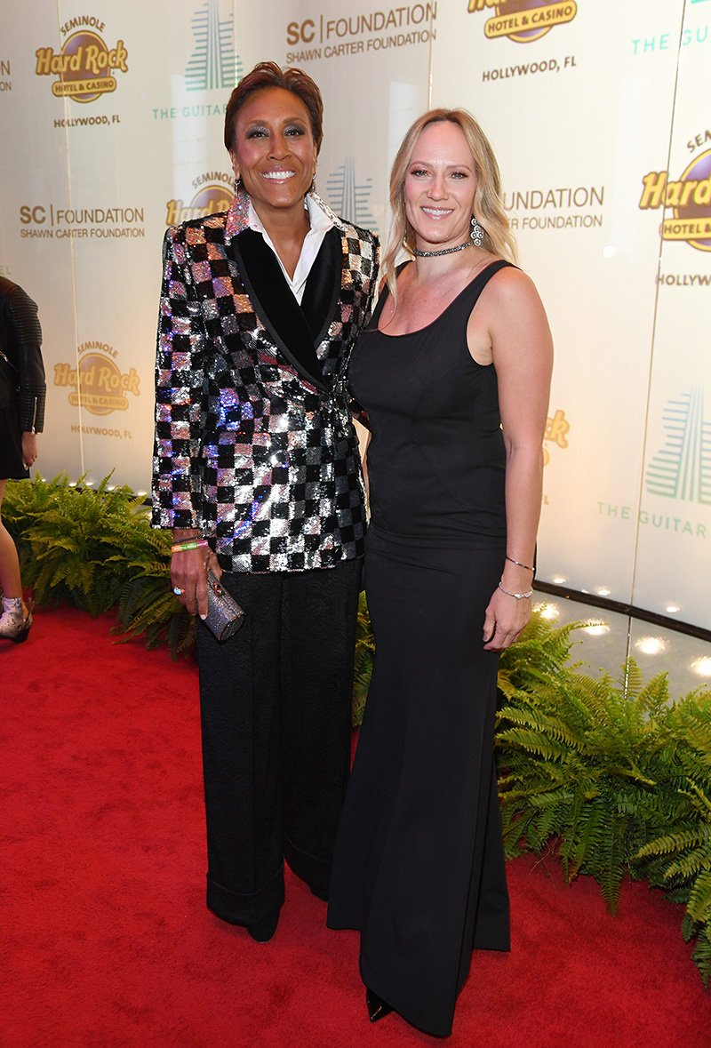 Robin Roberts and Amber Laign attend the Shawn Carter Foundation Gala at Hard Rock Live! in the Seminole Hard Rock Hotel & Casino on November 16, 2019 in Hollywood, Florida. I Image: Getty Images.