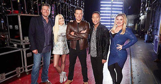 Gwen Stefani Shares Photo with Fellow 'Voice' Coaches Blake Shelton, John Legend and Kelly Clarkson