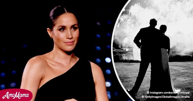 Fans think that Meghan's Christmas card has a 'spooky' resemblance to her pic with ex-husband