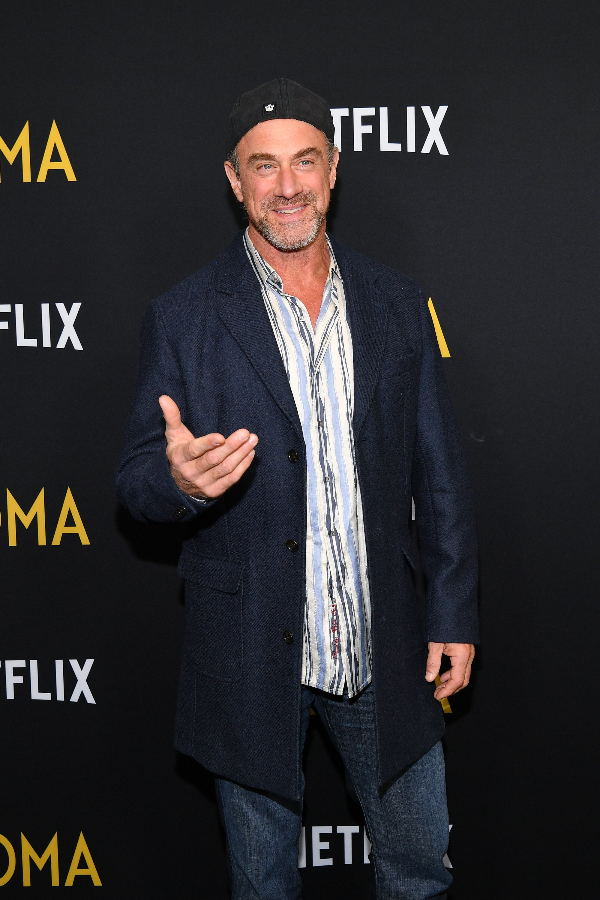 """Christopher Meloni attends the """"Roma"""" screening in New York City on November 27, 2018 