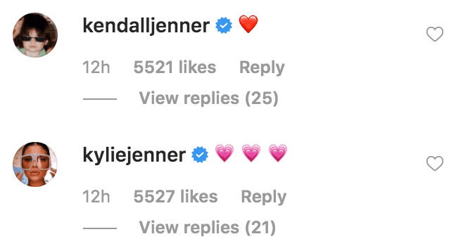 Kylie Jenner and Kendall Jenner comment with heart emoji's on Caitlyn Jenner's birthday message to Kris Jenner | Source: instagram.com/caitlynjenner