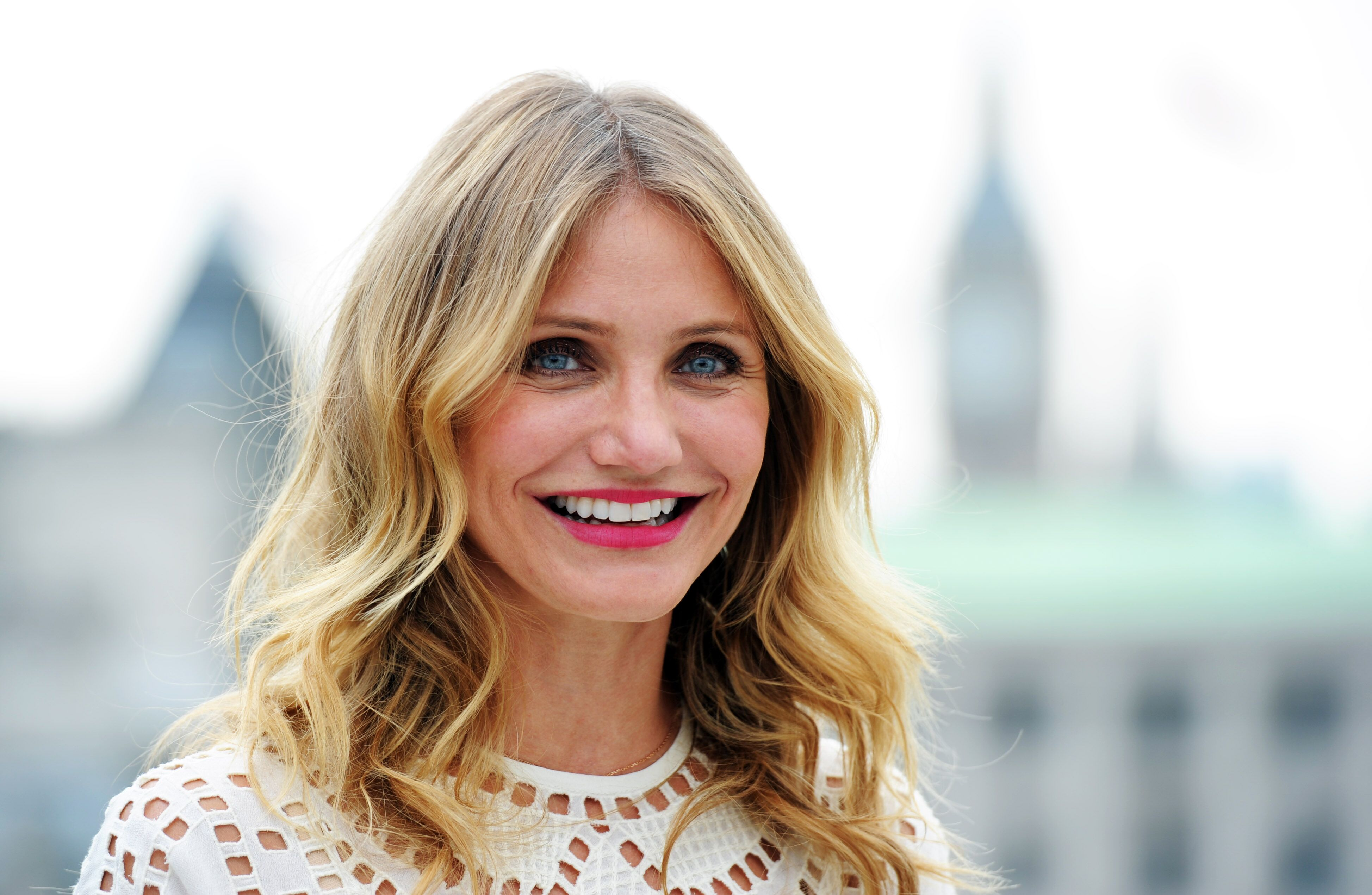 """Cameron Diaz attends a photocall for """"Sex Tape"""" at Corinthia Hotel London. 