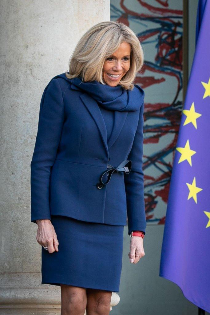 Brigitte Macron accueille les représentants du G7, le 19 février 2019 | Photo : Getty Images