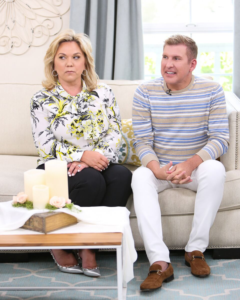 Julie and Todd Chrisley at Hallmark's 'Home & Family' at Universal Studios Hollywood. | Photo: Getty Images