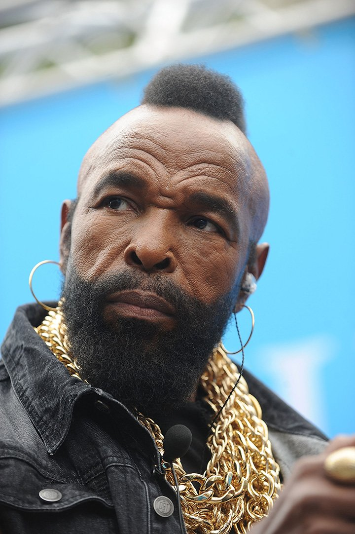Mr. T attends Mr. T And Nik Wallenda Celebrate National Amazing Month at Flatiron Plaza on May 17, 2016 in New York City. I Image: Getty Images.