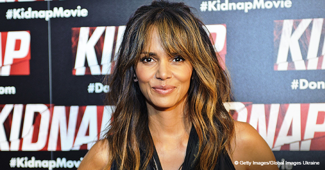 Halle Berry Ditches Bra in Unbuttoned Shirt Photo