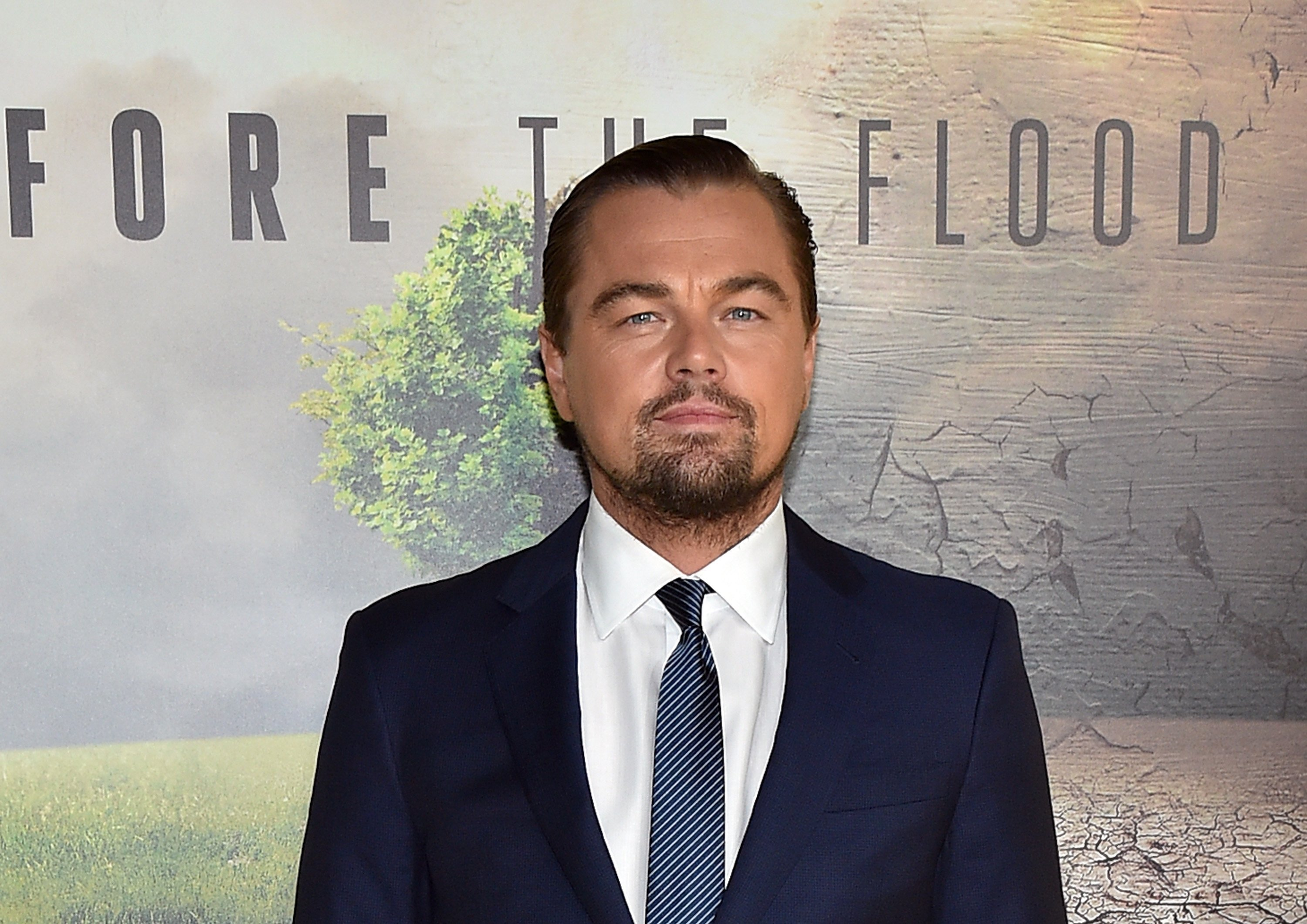 "Leonardo DiCaprio at the premiere of the flim ""Before the Flood"" in 2016 