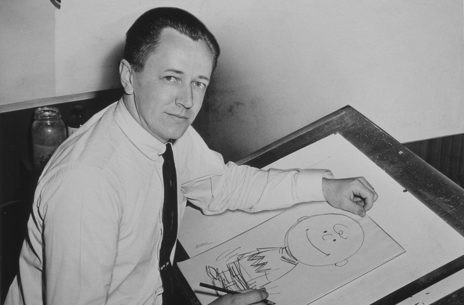 """Peanuts"" creator Charles M. Schulz in 1956 