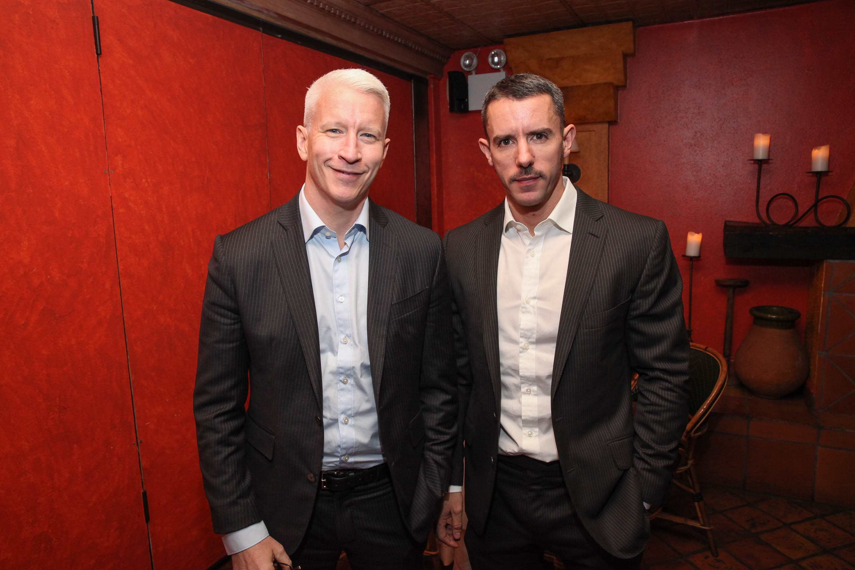 Anderson Cooper and Benjamin Maisani attend Kathy Griffin's Carnegie Hall Performance official after party on November 8, 2013, in New York City. | Source: Getty Images.