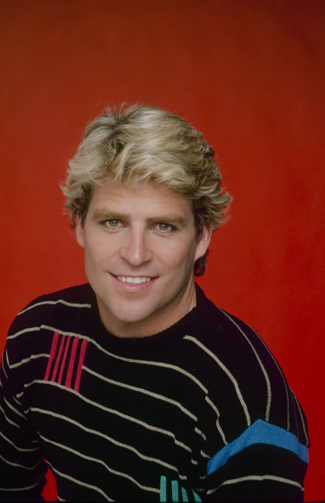 """Ted McGinley on the set of """"The Love Boat"""" in 1984 