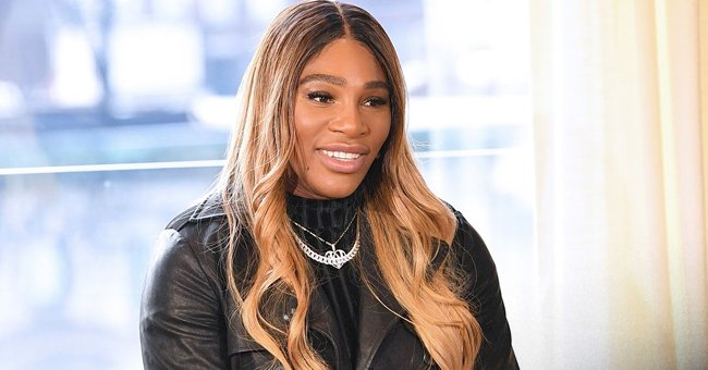 Serena Williams Sets Hearts Racing as She Poses in a Black Leather Mini Dress and Heavy Boots