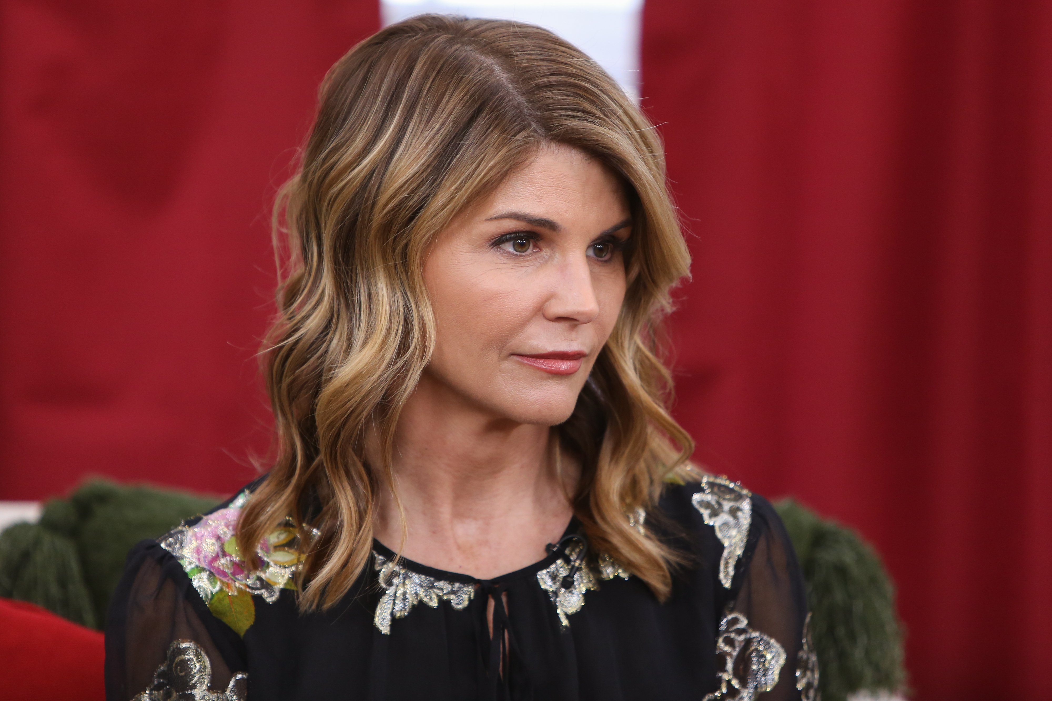 Lori Loughlin visiting Hallmark's 'Home & Family' at Universal Studios Hollywood on December 19, 2018 in Universal City, California. | Source: Getty