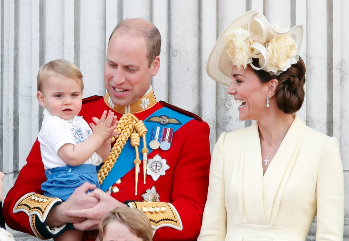 Prince Harry, Kate Middleton and Prince Louis at Trooping the Color in June 2019 | Photo: Getty Images