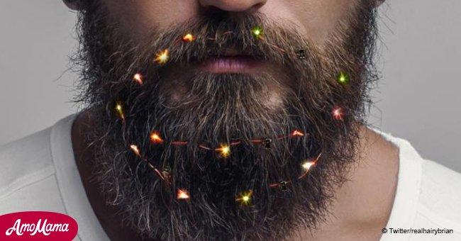 Les hommes ont littéralement allumé leur barbe en cette période des fêtes