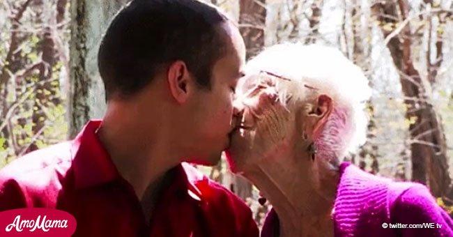 """""""Solo me atraen las mujeres mayores"""": con 31 años está apasionadamente enamorado de su novia de 91"""