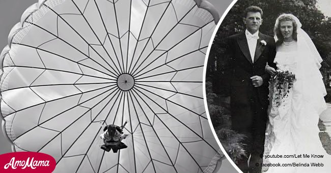 Wedding dress of WWII veteran's bride was made from the parachute that once saved the groom's life