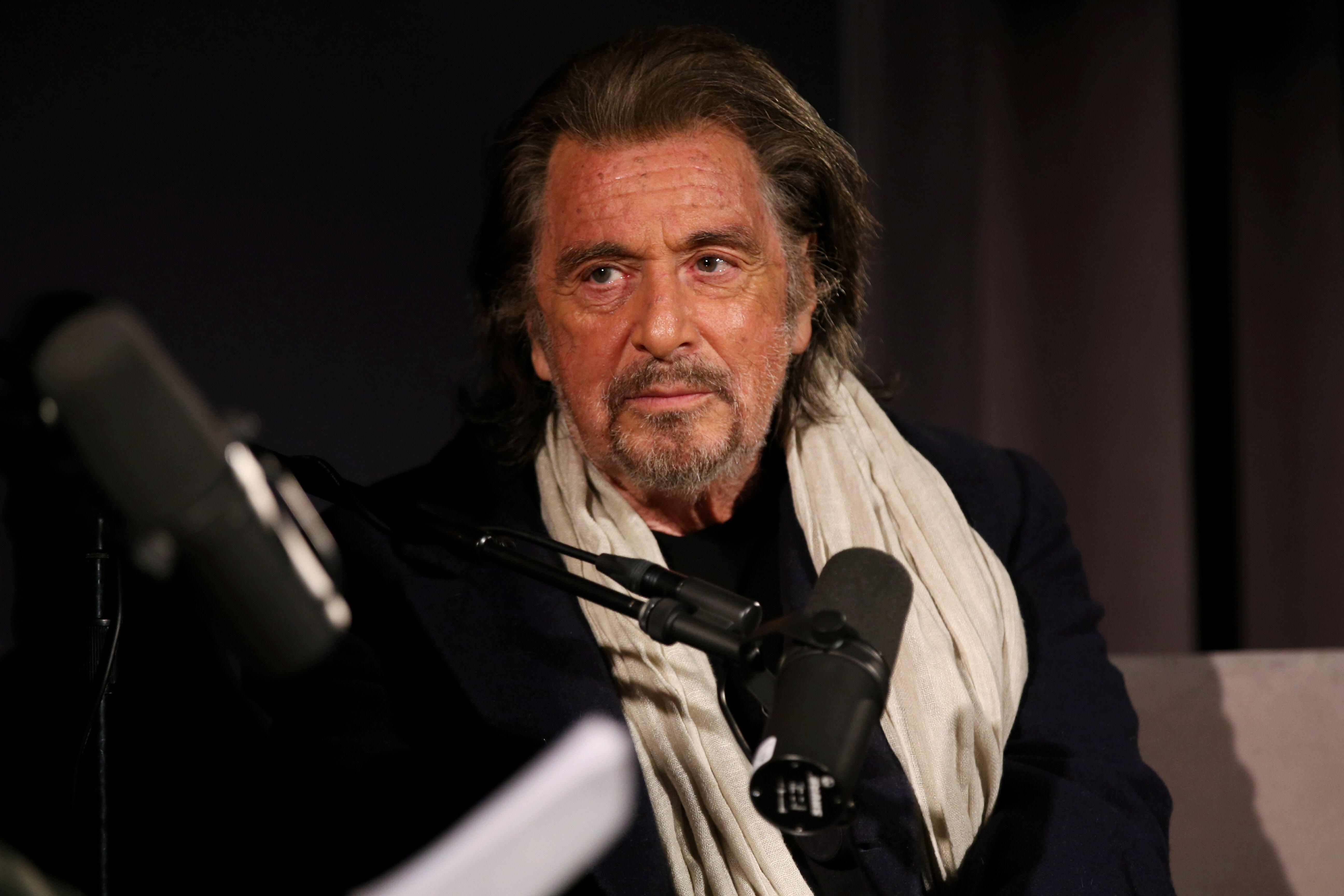 Al Pacino speaks onstage during The Hollywood Reporter Awards Chatter Live. | Source: Getty Images