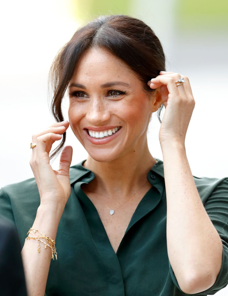 Meghan Markle visits the University of Chichester's Engineering and Technology Park on October 3, 2018, in Bognor Regis, England.   Source: Getty Images.