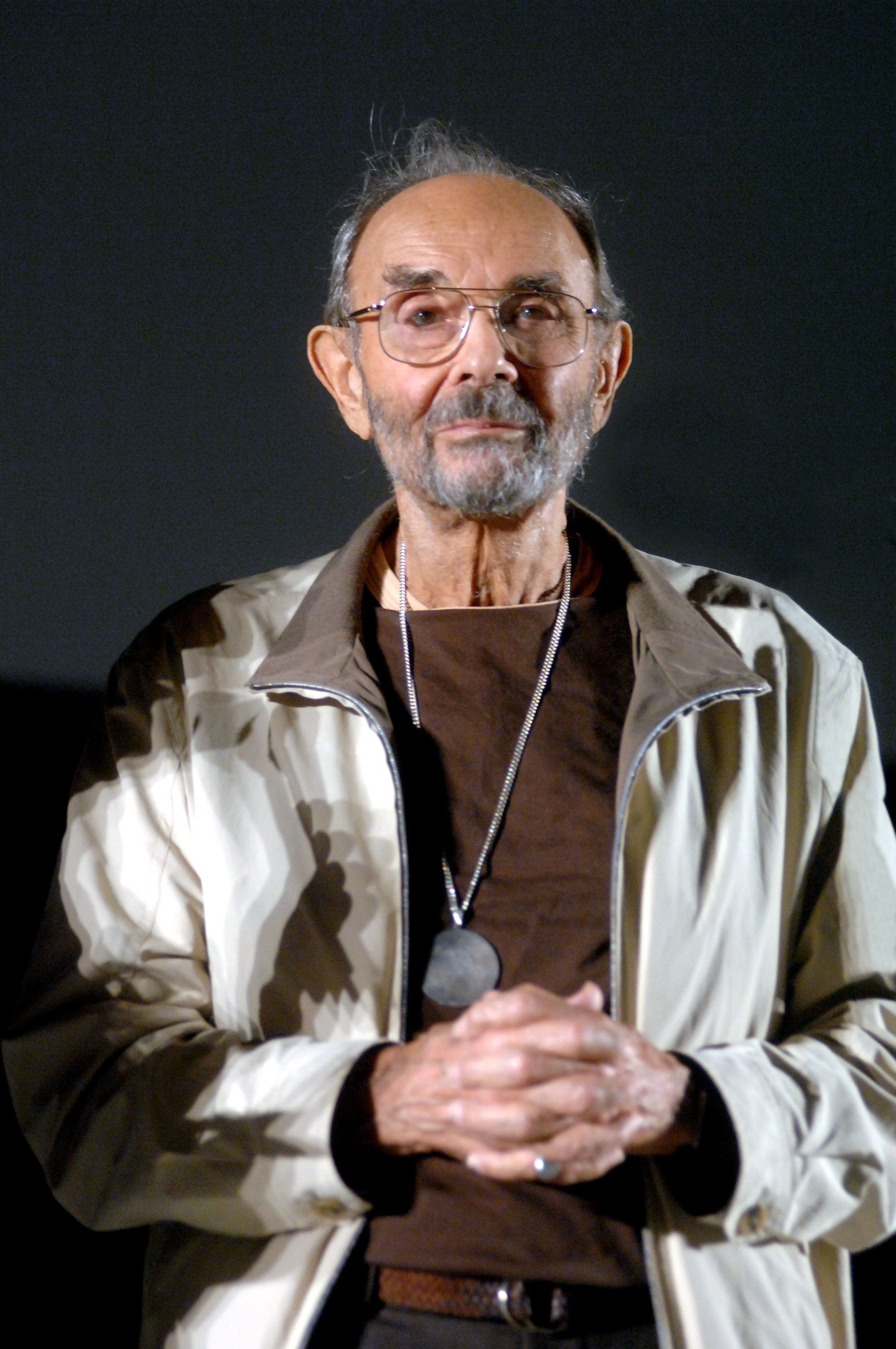 "Stanley Donen prior to a viewing of ""Singin' in the Rain"" in Bologna, Italy 