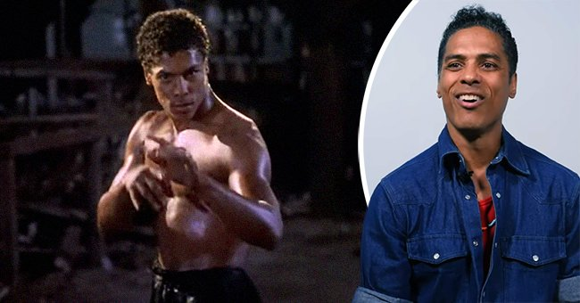 """A picture of Taimak in """"The Last Dragon"""" and now. Source: YouTube/ZenRyoku 