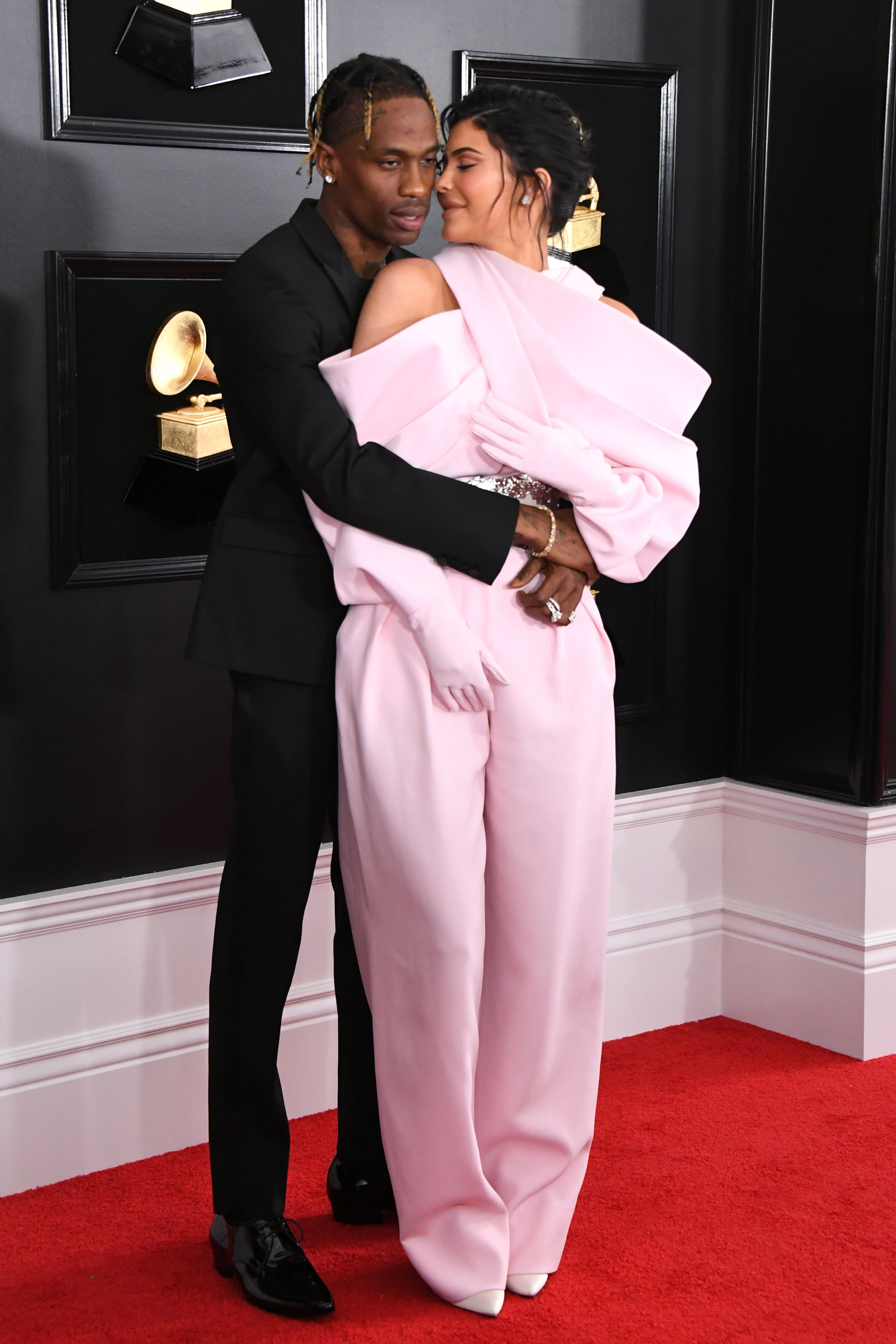 Travis Scott and Kylie Jenner during the 61st Annual Grammy Awards at Staples Center on February 10, 2019 in Los Angeles, California. | Source: Getty Images