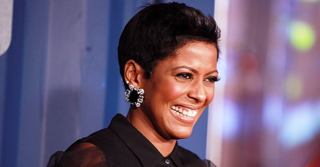 Tamron Hall Shows Fluffy-Haired Son Moses near Beaded Curtain Pull — Fans Warn Her to Tie It Up