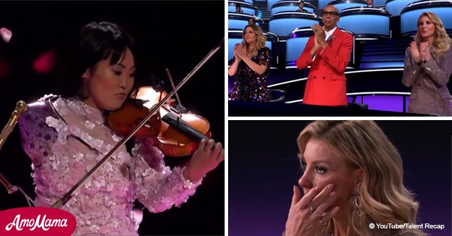 Disabled violinist grips hearts and minds across the globe with her outstanding perfomance