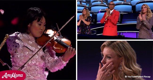 Körperlich behinderte Violinistin beeindruckt tausende Menschen weltweit mit ihrem Auftritt