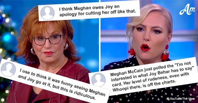 Viewers pounce on Meghan McCain after she rudely interrupts 'The View' cohost Joy Behar
