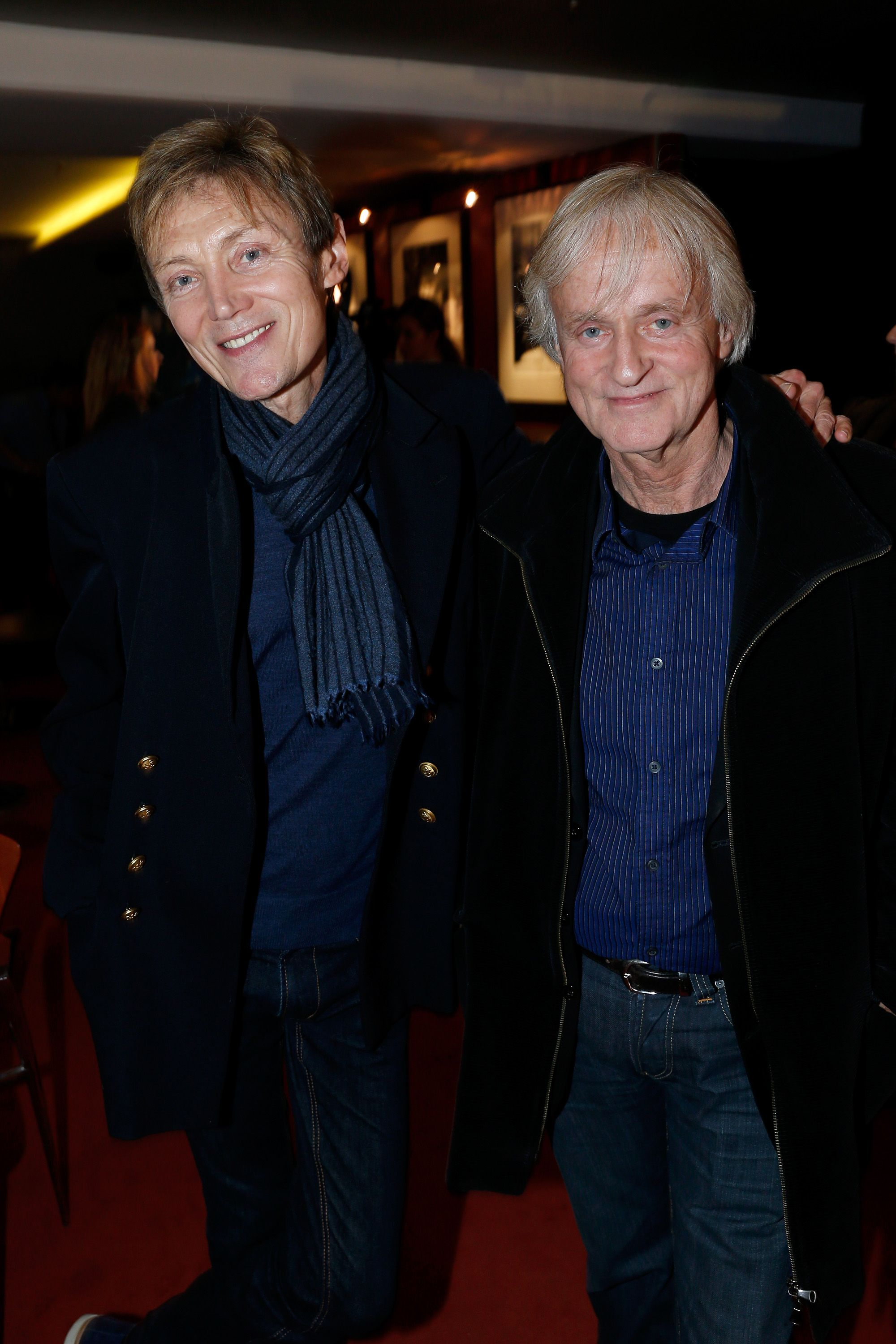 Le chanteur Dave et Patrick Loiseau à l'UGC Cine Cite des Halles le 25 mars 2013 à Paris, France. | Photo : Getty Images