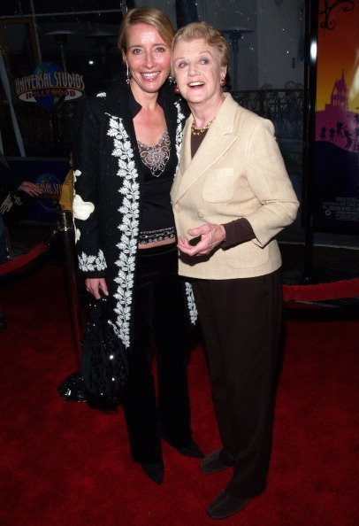 "Emma Thompson and Angela Lansbury during ""Nanny McPhee"" Los Angeles Premiere at Universal Studios Cinemas in Universal City, California, United States 