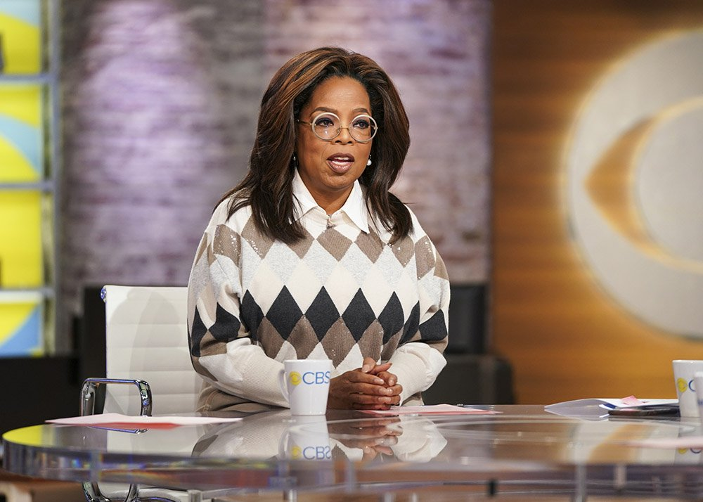 """Oprah Winfrey discussing her book club selection, """"Olive, Again"""" on """"CBS This Morning"""" in 2019. I Photo: Getty Images"""
