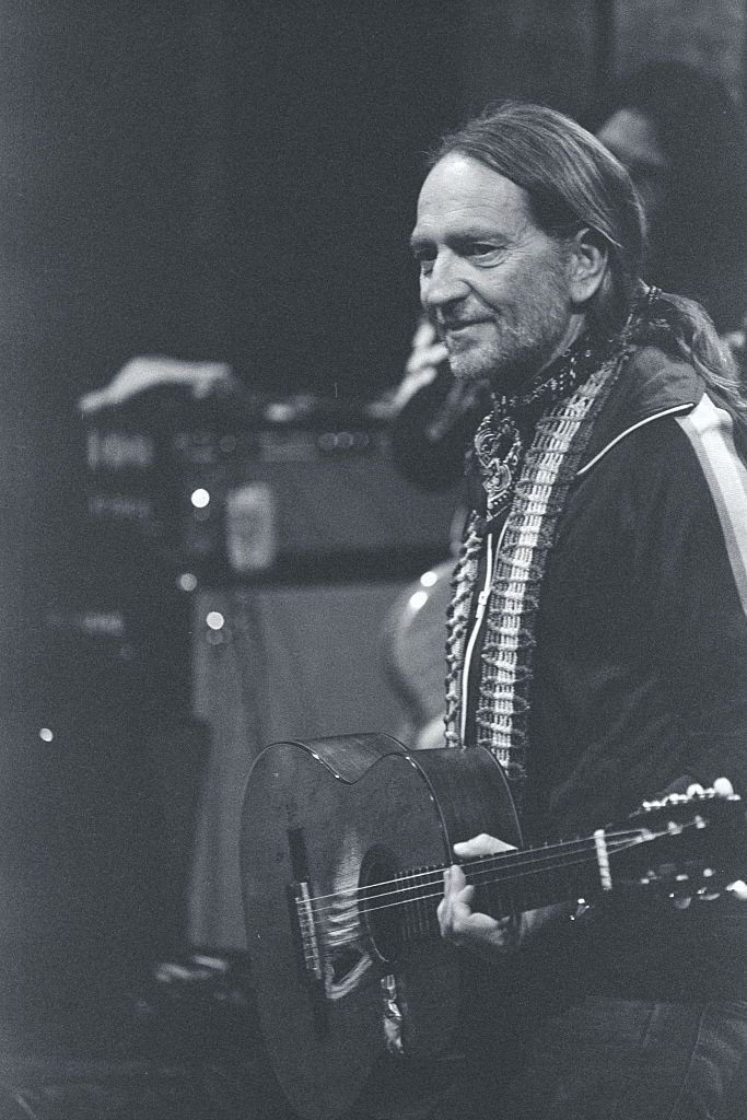 """Willie Nelson Singing on """"Saturday Night Live."""" 